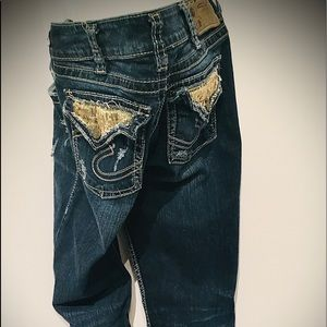 Women's Silver Bootcut Jeans